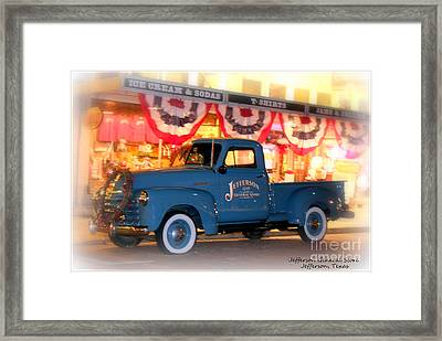Jefferson General Store 51 Chevy Pickup Framed Print by Kathy  White
