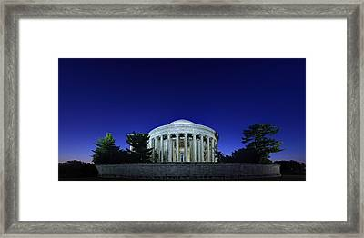 Jefferson In The Morning Framed Print by Metro DC Photography