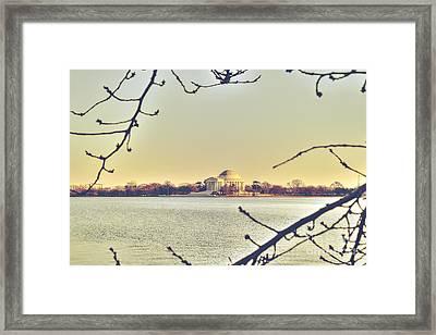 Jefferson Memorial At Dusk Framed Print