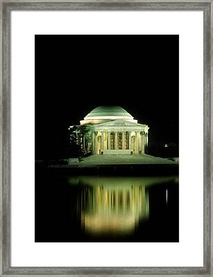 Jefferson Memorial At Night Framed Print