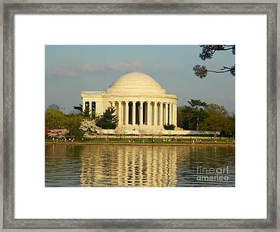 Jefferson Memorial At Sunset Framed Print by Emmy Vickers