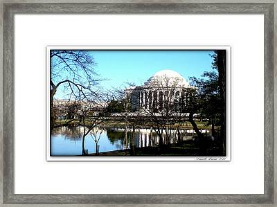 Jefferson Memorial Framed Print by Danielle  Parent