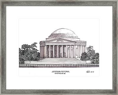 Jefferson Memorial Framed Print by Frederic Kohli
