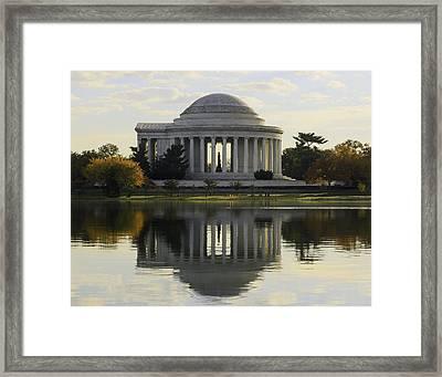 Jefferson Memorial In Autumn Framed Print