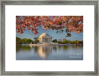 Jefferson Memorial In Spring Framed Print