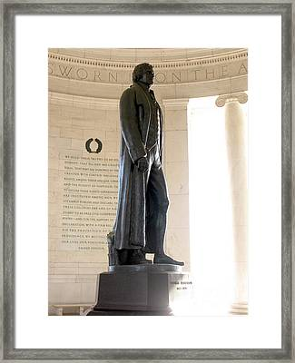 Jefferson Memorial In Washington Dc Framed Print by Olivier Le Queinec
