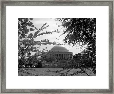 Jefferson Memorial Framed Print by Kimber  Butler