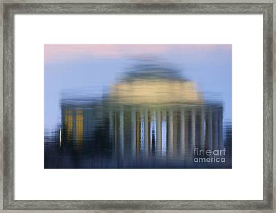 Jefferson Memorial Reflection Framed Print by Clarence Holmes