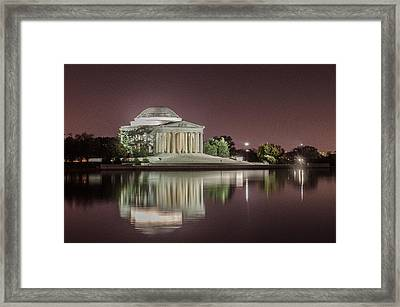Jefferson Memorial Framed Print by Ryan Johnson