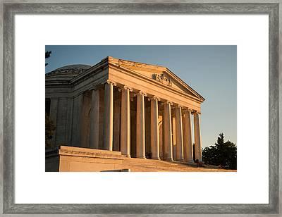 Jefferson Memorial Sunset Framed Print
