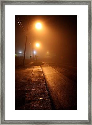 Jefferson Street - La Grange Ky Framed Print by Chris Fender