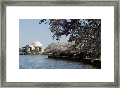 Framed Print featuring the digital art Jeffersonian Blossoms by Kelvin Booker