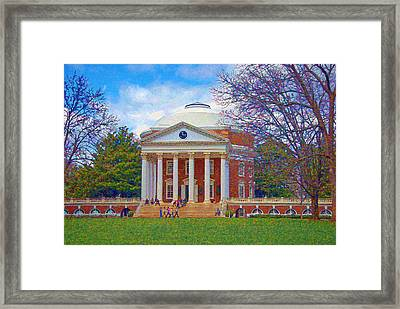 Jefferson's Rotunda At Uva Framed Print