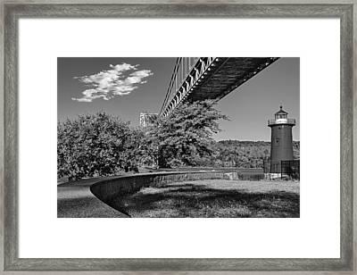 Jeffrey's Hook Lighthouse Hook Lighthouse Bw Framed Print