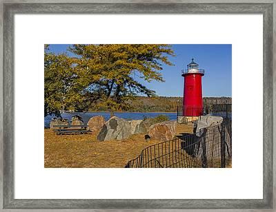 Jeffrey's Hook Lighthouse II Framed Print by Susan Candelario