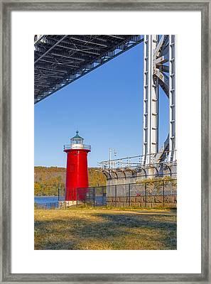 Jeffrey's Hook Lighthouse Iv Framed Print