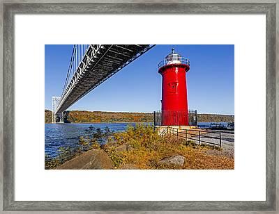 Jeffrey's Hook Lighthouse V Framed Print by Susan Candelario