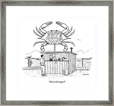 Jeff's Crab Hut Framed Print