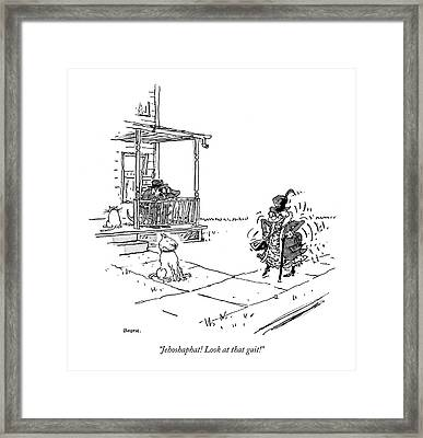 Jehoshaphat! Look At That Gait! Framed Print by George Booth