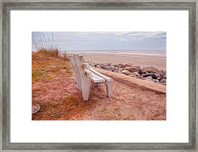 Jekyll Island Seats Available  Framed Print by Betsy Knapp
