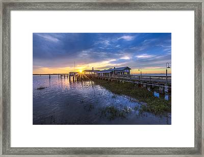 Jekyll Island Sunset Framed Print by Debra and Dave Vanderlaan