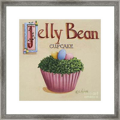 Jelly Bean Cupcake Framed Print by Catherine Holman