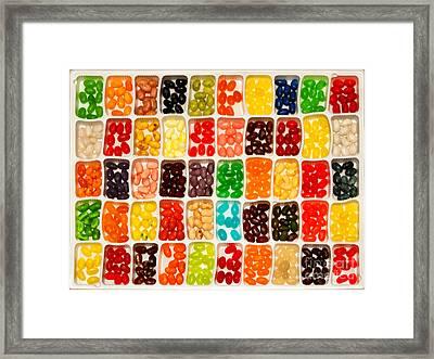 Jelly Beans Framed Print by Anne Kitzman
