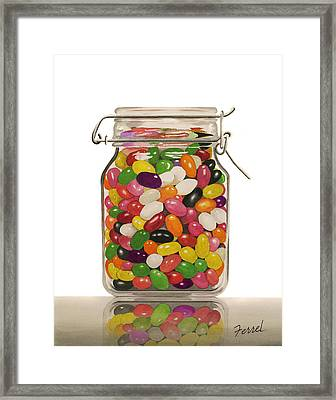 Framed Print featuring the painting Jelly Beans by Ferrel Cordle