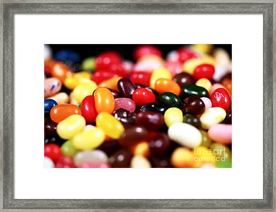 Jelly Beans Framed Print by John Rizzuto