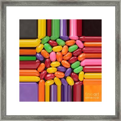 Jelly Beans Stretch  Framed Print by Igor Kislev