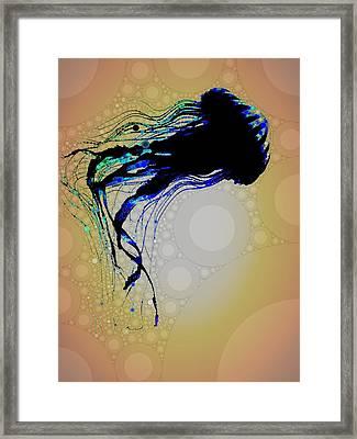 Jelly Fish 3 Framed Print by Cindy Edwards
