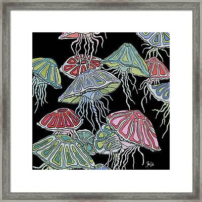 Jelly Fish II Framed Print by Shanni Welsh