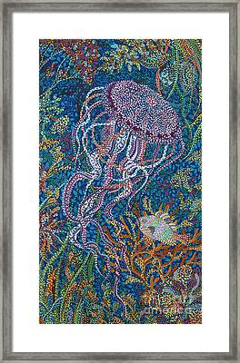 Jellyfish 2 Framed Print by Erika Pochybova