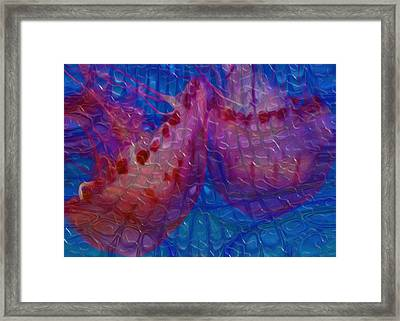 Jellyfish 5 - Beneath The Waves Series Framed Print