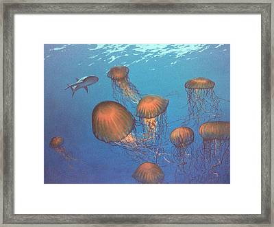 Jellyfish And Mr. Bones Framed Print by Philip Fleischer