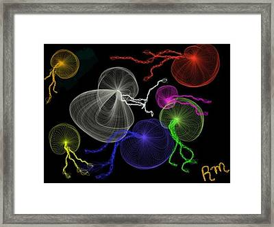 Jellyfish Jam Framed Print by Renee Michelle Wenker