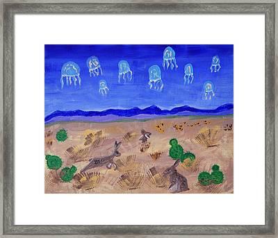 Jellyfish Migration Across Arizona Framed Print