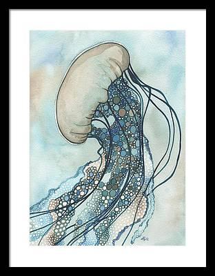 Aqua Framed Prints
