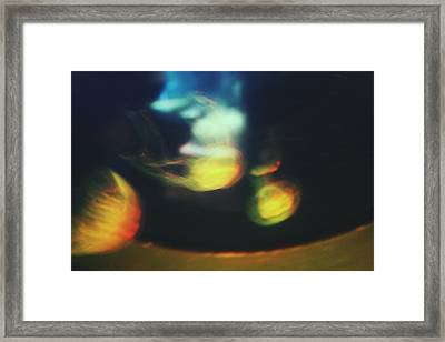Jellyfish Ultrasound Framed Print by Claudia Avila