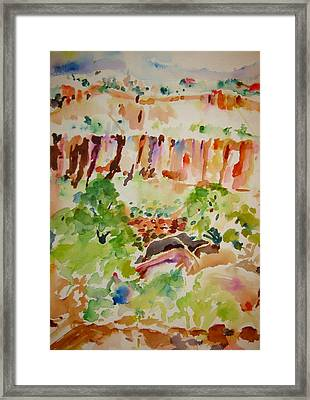 Framed Print featuring the painting Jemez Cliff Study by Jeffrey S Perrine