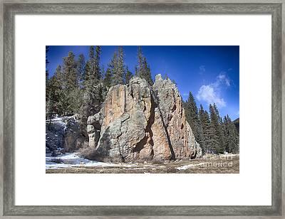 Jemez Mountain-rocks New Mexico  Framed Print by Douglas Barnard