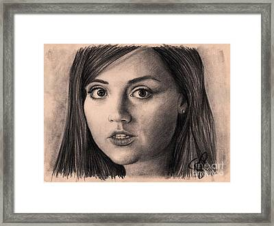Jenna-louise Coleman Framed Print