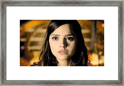 Jenna-louise Coleman - The Doctor's Companion Framed Print by David Blank