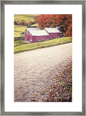 Jenne Farm Vermont Framed Print by Edward Fielding