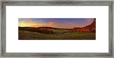 Jenne Farm Vermont Panoramic Framed Print by Joann Vitali
