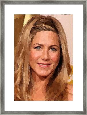Jennifer Aniston Portrait Framed Print