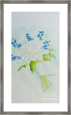 Jennifer's Wedding Bouquet Framed Print