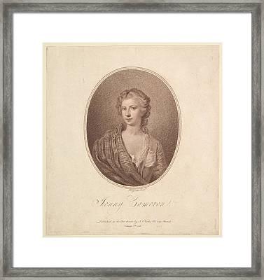 Jenny Cameron Framed Print by Supposedly after a painting by William Hogarth