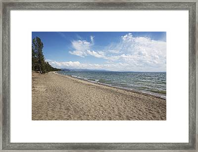 Yellowstone Lake Framed Print by Belinda Greb