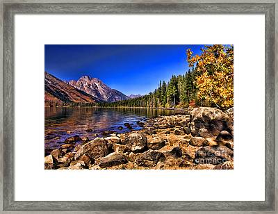 Framed Print featuring the photograph Jenny Lake by Clare VanderVeen